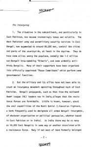 ১৯৭১ সালের ২২ সেপ্টেম্বর দেওয়া সিআইএ রিপোর্ট page-2