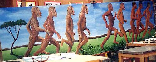 ডোভার স্কুকের এক ছাত্রের বিবর্তন নিয়ে আঁকা ছবি