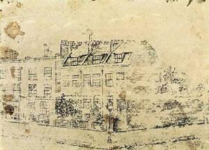 ১৮৭৩ সালে ভিনসেন্টের আঁকা রেখাচিত্রে লন্ডন